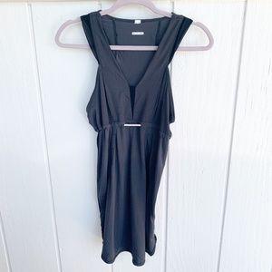 LULULEMON Grey Mesh V-Neck Drawstring Dress XS